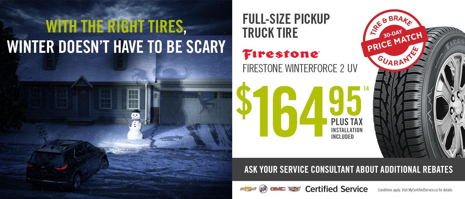 Winter Tire Specials Trucks