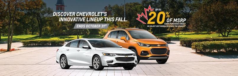 Chevrolet Specials October 2017