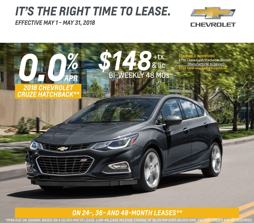 2018 Cruze Hatch Lease
