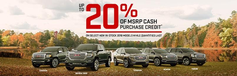 GMC Specials Oct 2018