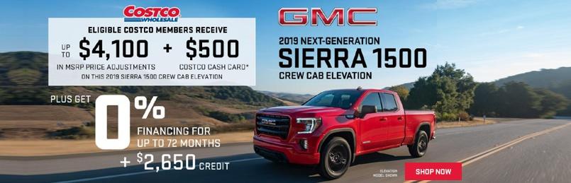 GMC Sierra Specials August 2019