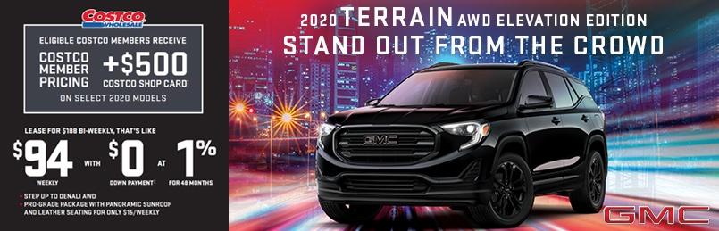 2020 GMC Terrain Autoshow Offers